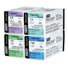 Sutures Perma-Sharp D' Acide Polyglycolique Pga Teint - La boîte de 12 Unités - Fil 4/0