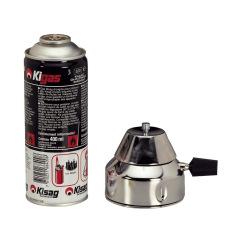 Brûleur à gaz - Le brûleur avec 1 recharge de gaz