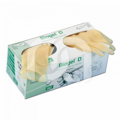 Gants en latex sans poudre - La boîte de 25 paires