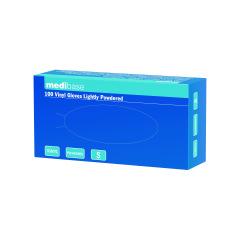 Gants en vinyle poudrés - La boîte de 100 gants
