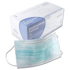 Masques à élastiques - La boîte de 50 masques bleus
