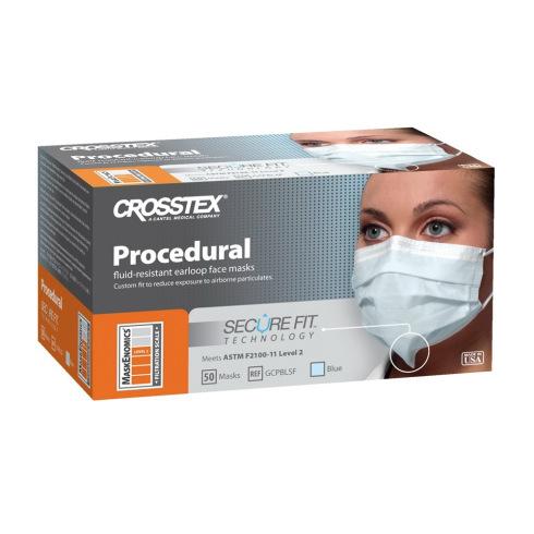 Secure Fit Procedural mondmaskers blauw - 50 stuks