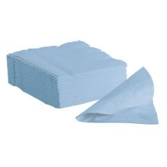 Serviettes en papier - Le lot de 2 400 serviettes bleues