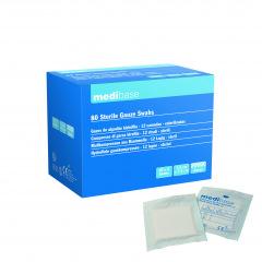 Compresses gaze stériles médibase 7,5 X 7,5cm - Les 40 blisters de 2 compresses